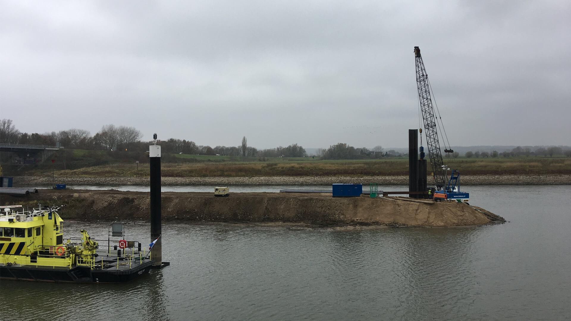 Rijkswaterstaat vergroot de haven bij Container Terminal Doesburg