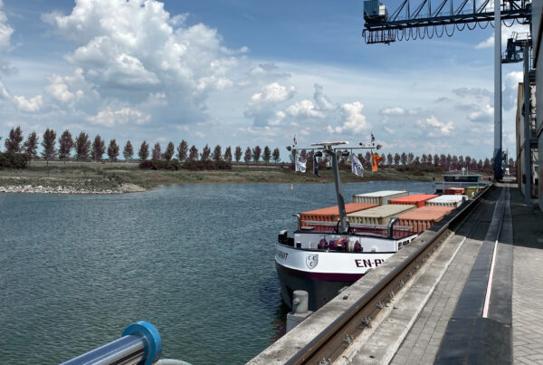 Container Terminal Doesburg hoogwater